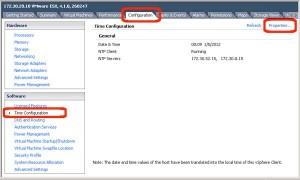 NTP on the VMware Host