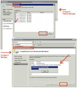 disk create in hyper-v