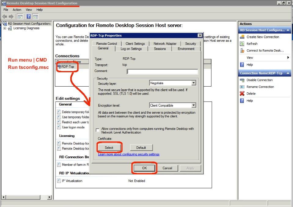 Use Third Party Cert In Remote Desktop