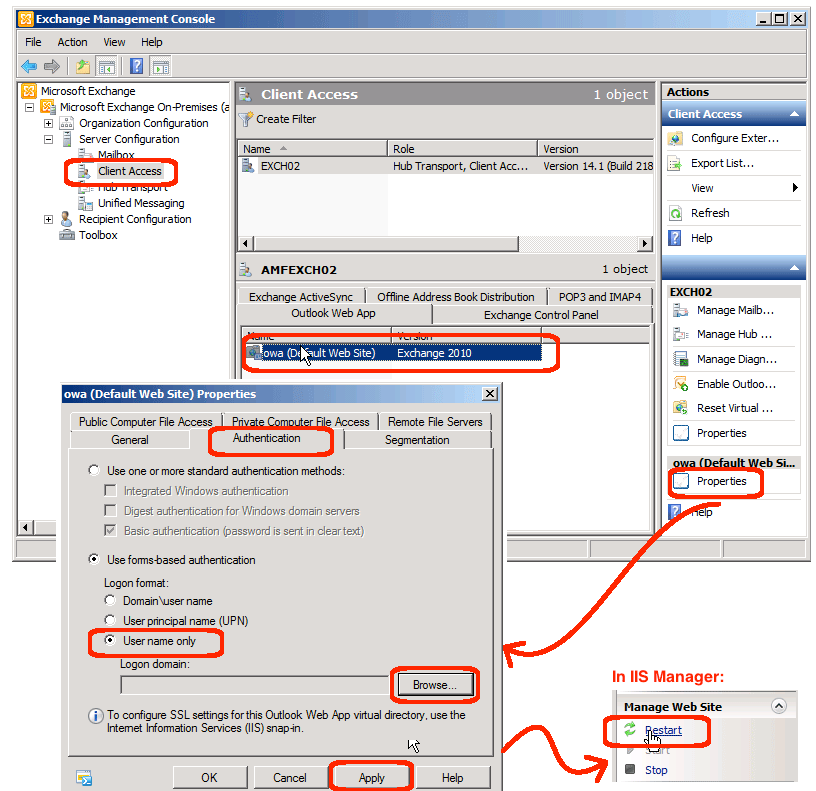 how to open exchange management console in windows server 2012