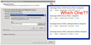 selecting the exchange disk