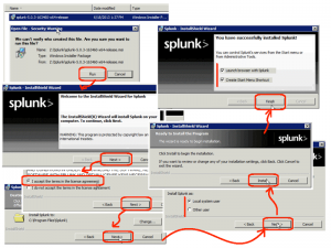 Installing splunk on windows