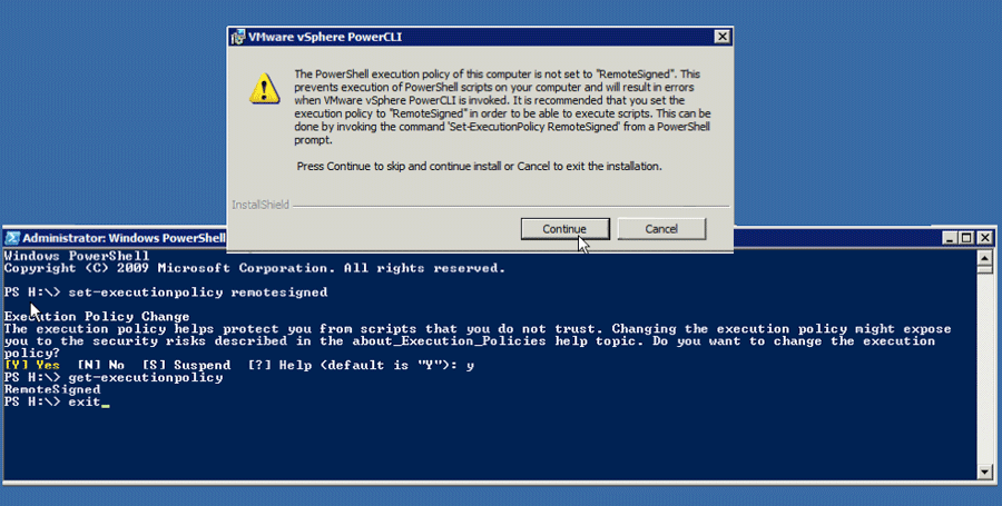 Installing VMware CLI Needs RemoteSigned