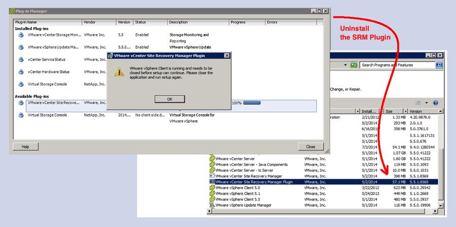 Error Message Installing the SRM Plugin