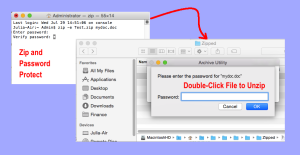 apple how to zip and encrypt files